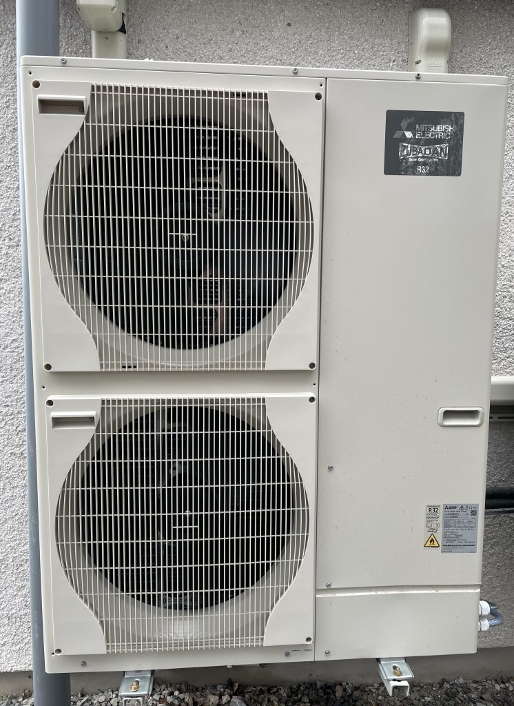 3 Phase Heat pump outside the building