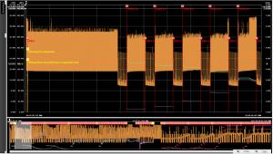 Samsung U.2 drive test results screen capture.